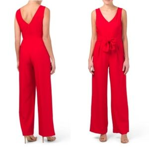 Laundry by Shelli Segal Red Tie Jumpsuit